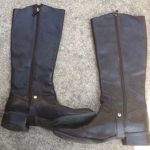 Franco Sarto High Leather Boots Size 8 M